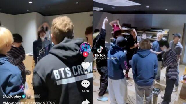 BTSとColdplay「My Universe」HYBE社屋にて熱唱映像が公開!