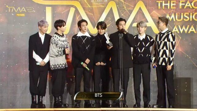 BTS 2021 THE FACT MUSIC AWARDS (TMA)U+アイドルライブ賞2冠達成